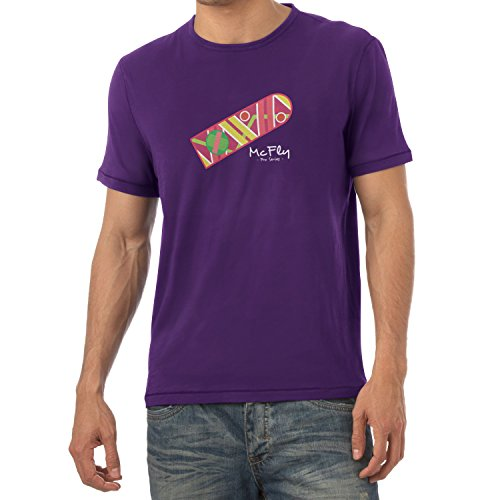 Texlab Herren McFly Pro Series Hoverboard T-Shirt, Violett, XL