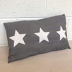 Megachest Lot de 4 Coussins en Daim Doux rectangulaire avec Motif étoiles pour canapé, Chambre à Coucher, Voiture (30 x 50 cm) (Quatre oreillers)