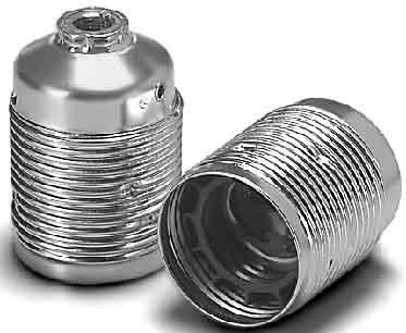 VOSSLOH Fassung E27 Leuchten- Lampenfassung Metall Stahl messingfarben Gewinde