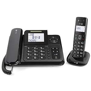 Doro - COMFORT4005 - Téléphone filaire + combiné avec répondeur - Noir