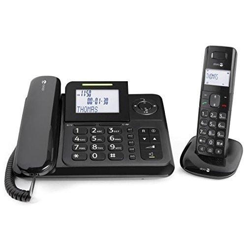 Doro Comfort 4005 Combo Schnurlostelefon mit Anruferkennung und Anrufbeantworter schwarz