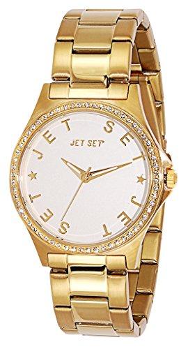 Jet Set - J74328-162 - Beverly Hills - Montre Femme - Quartz Analogique - Cadran Argent - Bracelet Acier Doré