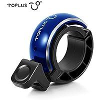 TOPLUS Fahrradklingel Fahrradglocke Radfahren, O Design Fahrradglocke, Unsichtbar Bike Fahrrad, Fahrradhupe Klingel Glocke Hupe für Fahrrad, blau, für Lenker 22.2-23mm
