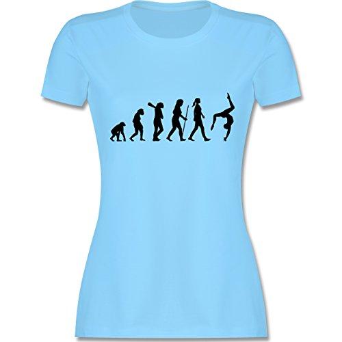 Evolution - Evolution Turnen - XL - Hellblau - L191 - Damen T-Shirt Rundhals