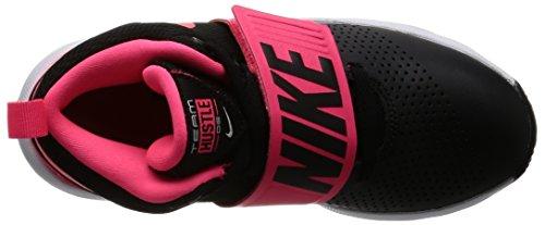 Nike Team Hustle D 8 (GS), Chaussures de Basketball Garçon Black/Racer Pink/White