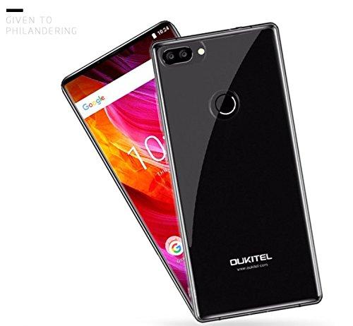 PREVOA ® 丨Hülle für OUKITEL Mix 2 - Transparent Silikon Hülle Cover Case Schutzhülle Tasche für OUKITEL Mix 2 Smartphone -