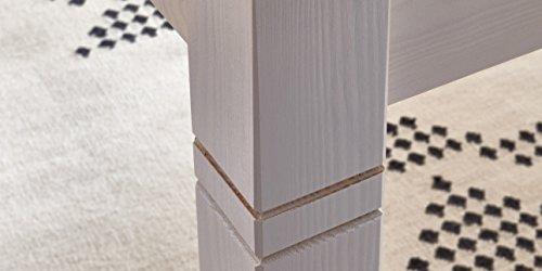Essgruppe Essecke weiß Landhaus Bali Esstisch mit 6 Stühlen Kieferholz Pinie Massivholz - 4