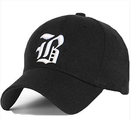 Bonnet Chapeau Casquette Snapback Baseball Alphabet Gothique letters A-Z Hip-Hop Snap Back (B)