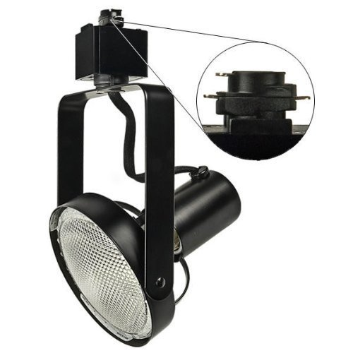 Nora Track Light NTH-147B - Black - PAR30 Front Loading Gimbal Ring - Compatible with Halo Track - 120 Volt by Nora Lighting (Track Par30)