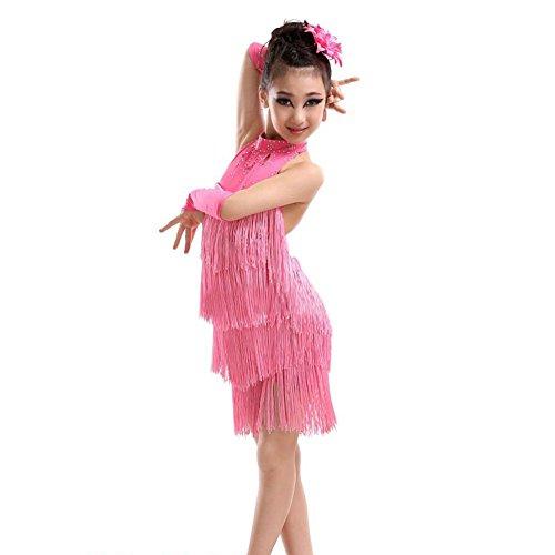 einisches Salsa Tanz Kleider Sleeveless Halter Tanz Kostüm 4-11 Jahr (Salsa Kostüme Für Mädchen)