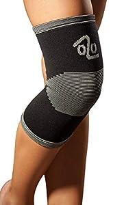 LOREY Kniebandage KN27001 Bamboo Edition aus hochwertigem Strickgewebe Größe L