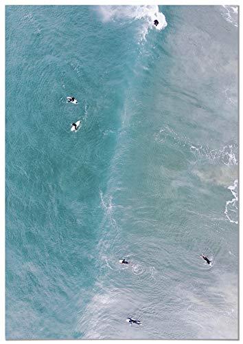 Panorama® Póster Vista Aérea Surfers 50 x 70 cm