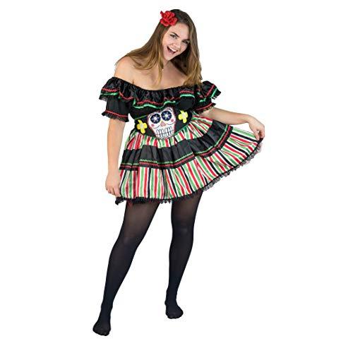 Bodysocks® Tag der Toten Kostüm für ()