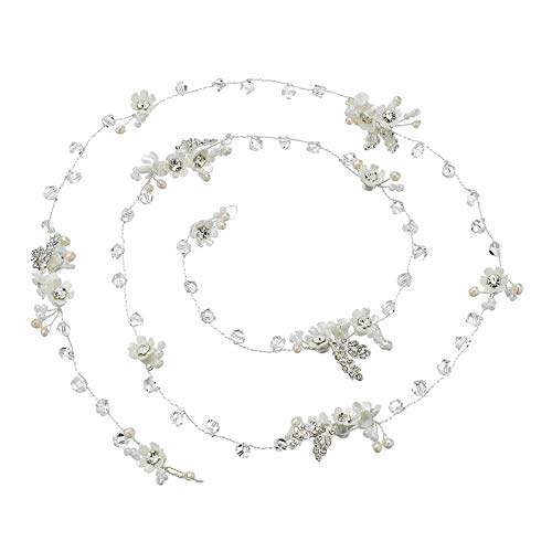 ANAZOZ Haarschmuck Hochzeit Blume Schmuckstirnbänder Haarschmuck Brautschmuck Haarnadeln Silber Brautschmuck Kopfschmuck