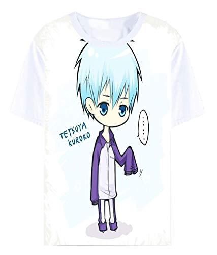 Cosstars Anime Kuroko No Basuke T-Shirt Cosplay Kostüm Sommer Kurzarm Tee Top Shirts Weiß 1 ()