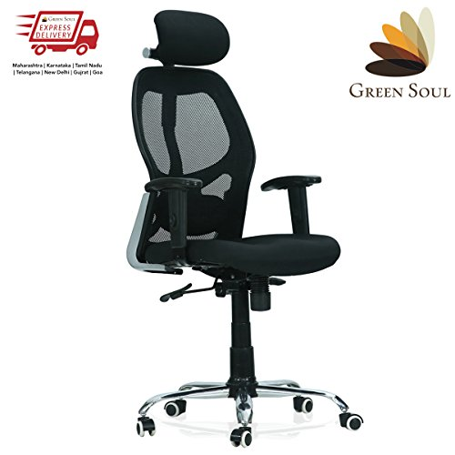 Green Soul New York High Back Mesh Office Chair (Carbon Black)