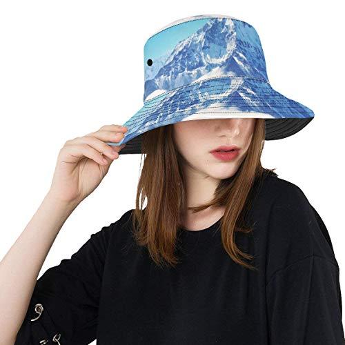 1d0ab0cbb7e2c Beautiful Winter Snow Mountain New Summer Unisex Cotton Fashion Fishing Sun Bucket  Hats for Kid