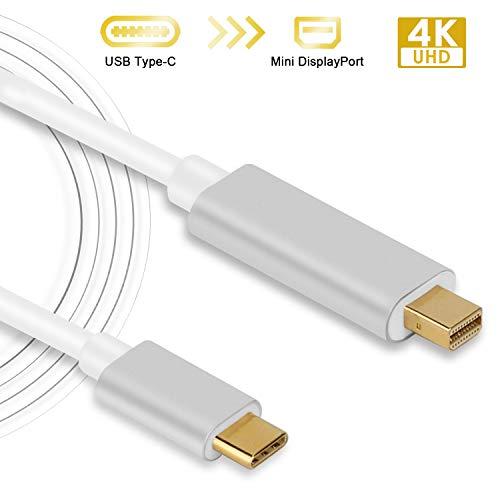 USB C auf Mini DisplayPort Kabel Typ C Type C zu Mini DisplayPort Mini DP Kabel Adapter Konverter 4K 60 Hz Auflösung 6FT / 1,8m für Laptop Handy etc