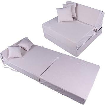 schlafsessel 180x80x38cm mit 2 kissen klappmatratze gästebett ... - Bettsessel Kinderzimmer Gastebett