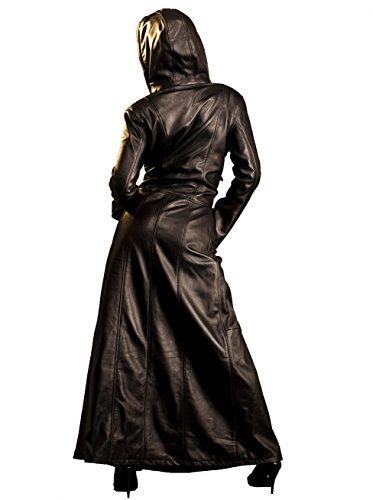 Robe à Capuche en Cuir Gothica Noir