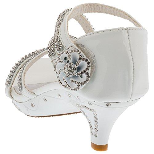 Sandali da ragazza col tacco, pumps #660 Weiss