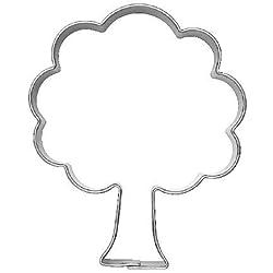 Ausstechform Ausstecher Baum / Laubbaum, 6cm, Edelstahl