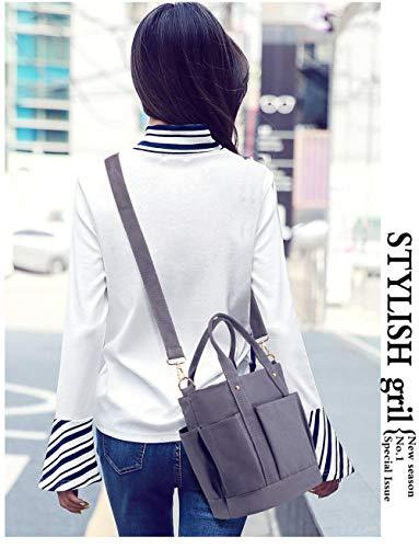 Louis Vuitton Canvas Tote Bag (YZJLQML Lady bagsFashion Schulter Crossbody Canvas Tasche Vintage Zipper Tote @Black)