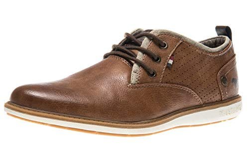 MUSTANG Shoes Halbschuhe in Übergrößen Cognac 4111-303-307 große Herrenschuhe, Größe:49