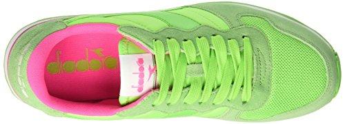 Diadora Unisex-Erwachsene Camaro Pumps, Bianco Multicolore (C6108 Rosa Fluo/Verde Fluo)