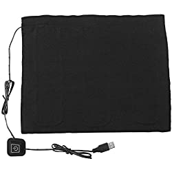 DC 5V USB Calentador eléctrico de tela, USB 3-Shift Impermeable Almohadilla térmica de fibra de carbono, Cojín lavable Ropa Fiebre Tabletas para cuello, espalda, abdomen, calefacción lumbar