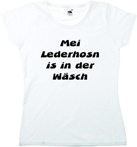 T-Shirt Oktoberfest Wiesn München Junggesellenabschied für Frauen Männer und Kinder in allen Größen XS bis 4XL oder Kinder 104 bis 164 Motiv Nr.57 Damen-Weiß