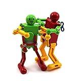 Gogogo Funny Clockwork Wind Up Dancing Robot Toy for Baby Kids Developmental Gift 2Pcs Random Color