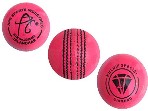 APG-Pink-Leather-Cricket-Ball-Kuldip-Diamond-Pack-of-1-Ball