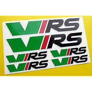 Skoda VRS Logo Set der Aufkleber Abziehbilder Octavia Fabia Rapid Citigo Superb Yeti