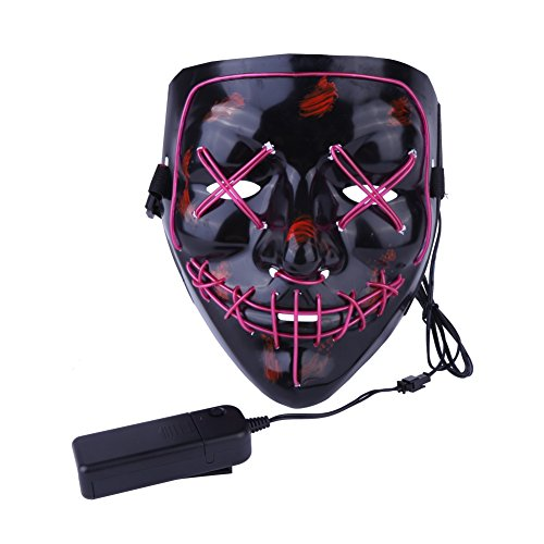 Fushkong Halloween Cosplay LED Beleuchtete Maske für -