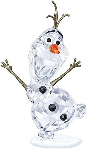 Swarovski 5135880 Olaf figura in vetro, 8,89 (3,5 x 5,3 cm x 4, colore: trasparente/arancione