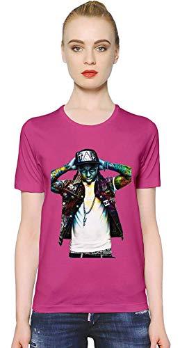 Lil Wayne Bunter Colorful Women T-Shirt Girl Ladies Stylish Fashion Fit Custom Apparel by Large - Shirt Wayne Rosa Lil