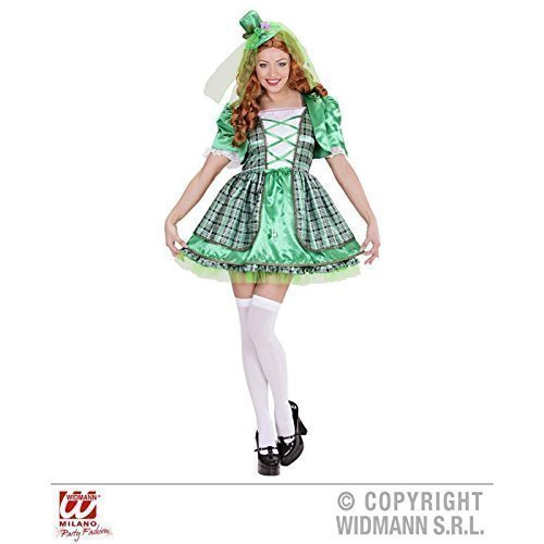Lively Moments Kostüm Irish Girl / Petticoatkleid und Minihut / St. Patrick´s Day / Fasching Kleid Gr. L = 42 (Girl Kostüm Irish)