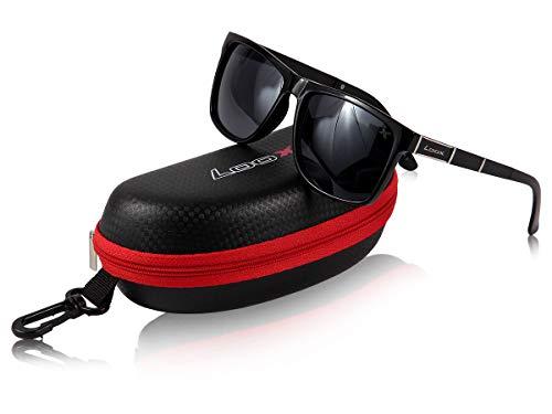 Loox occhiali da sole | avignon | uomo | donna | montatura nera | lenti quadrate e sfumate | hipster | nerd | con custodia