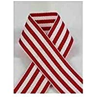 Schiff Ribbons 44207-3 10-Yard Candy Stripe Ribbon, 5/8-Inch, Red/White Stripe by Schiff Ribbons
