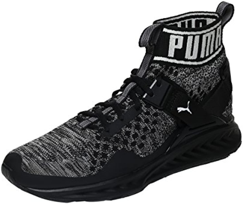 Puma Ignite evoknit Zapatillas para hombre, negro/gris, 12.0 UK - 47.0 EU