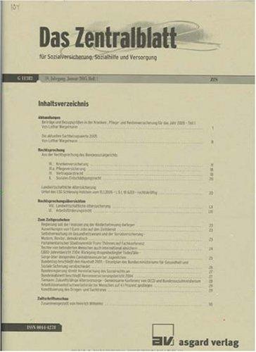 Zentralblatt für Sozialversicherung, Sozialhilfe und Versorgung