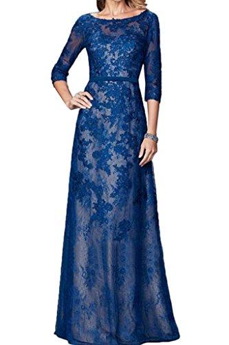 ivyd ressing Custodia alta qualità mezzo Aermel rotondi da donna colletto–Linea Prom abito fisso vestito abito da sera Blu Royal