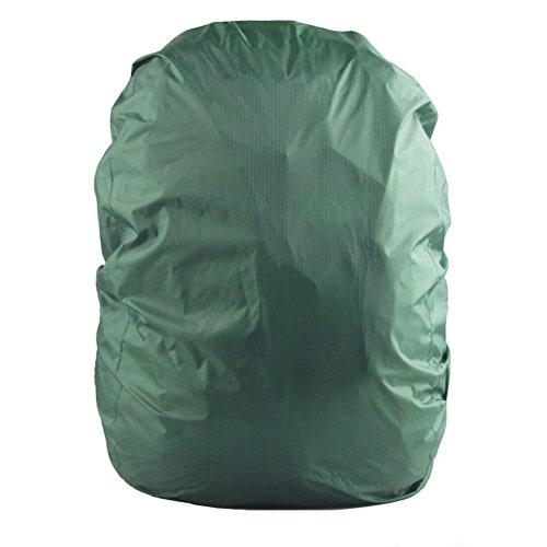 UEETEK Wasserdichte Rucksack-Abdeckungs-Tasche Regenproof Rucksack-Abdeckung für das Kampieren, das Reisen läuft Armeegrün (Rucksack Abdeckung Für Flugreisen)