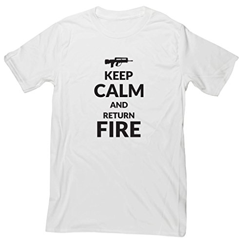 Hippowarehouse Keep Calm and Return fire Unisex Short Sleeve t-Shirt
