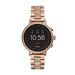 Fossil Damen Digital Smart Watch Armbanduhr mit Edelstahl Armband FTW6011