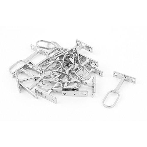 Metallic-unterstützung (DealMux Metallic Wand befestigte Kleidung Rohrhalterung Unterstützung Silber-Ton-20pcs)