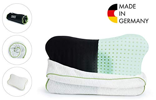 BLACKROLL® RECOVERY PILLOW - orthopädisches HWS Kissen (Nackenstützkissen) aus Viscose Memory Schaum - Made in Germany