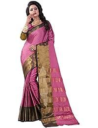 Vastrang Women's Cotton Silk Saree With Blouse Piece(A116_Light Pink_Free Size)