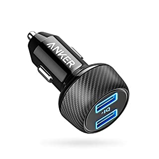 Anker Car Charger [UPGRADED] PowerDrive 2 Elite, Ultra-Compact 5V/4.8A/24W Dual Port Car Charger with PowerIQ Technology for Apple, Samsung, and other iOS or Android Mobile Phones and Tablets